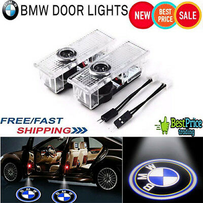 4PCS BMW LED Courtesy Laser Welcome Projector Logo Shadow Car Door Lights Lamps.