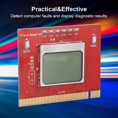 PCI Motherboard Diagnostic Tester Analyzer Post Card Test Tool For Desktop PC