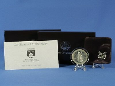 USA 1 Dollar 1989 , Congressional Coins , Silber *PP/Proof* , OVP  (3846 )
