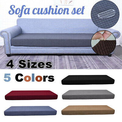 Waterproof Stretchy Sofa Seat Cushion Cover Couch Bench Slipcovers Protector AU