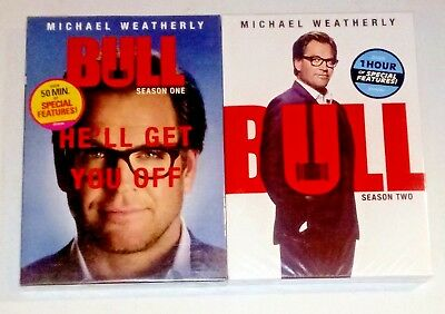 Brand New! Bull: Complete Seasons 1 & 2, 1 2. 12 Disc Bundled Dvd Set. Free Ship