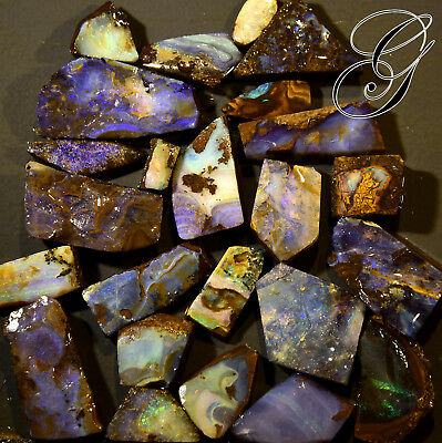 Beautiful Australian Boulder Opal Parcel * 401 cts  24 pcs **Opals by Grace**
