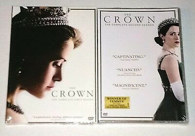 Brand New! The Crown: Seasons 1 & 2, 1 2. 8 Disc Bundled Dvd Set. Ships Free