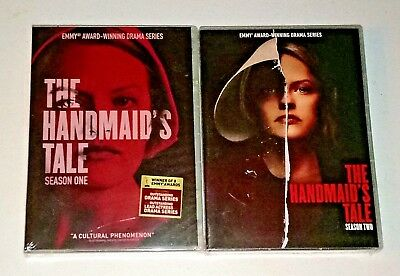 New! The Handmaid's Tale: Seasons 1 & 2, 1 2. 7 Disc Bundled Dvd Set. Ships Free
