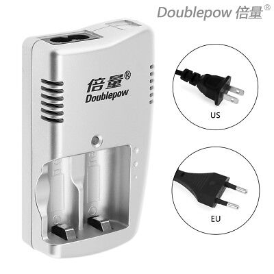 Double power 2 Slots Smart Battery Charger  for 3V CR123A Rechargeable Battery