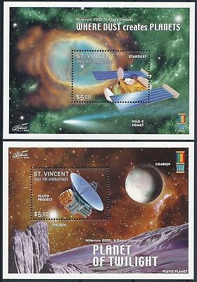 [H16173] St Vincent & Grenadines 2000 SPACE Good set of 2 sheets very fine MNH