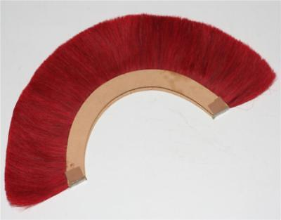 Halloween RED PLUME RED CREST BRUSH Natural Horse Hair For ROMAN SOLDIER HELMET
