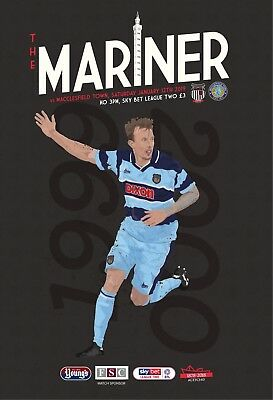Grimsby Town Football Club - 18/19 Programme - Macclesfield Town - 11/01/19