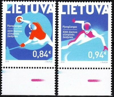 LITHUANIA 2018-02 SPORT: Winter Olympic Games, South Korea, MNH