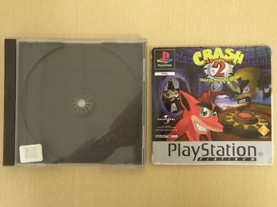 Playstation 1 Game Case + Manual * CRASH BANDICOOT 2 PLATINUM * No GAME 33185