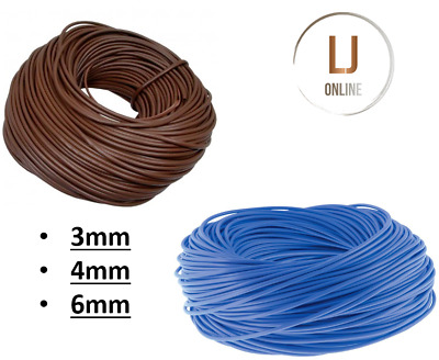 Blue / Brown PVC Sleeving 3mm 4mm 6mm electrical wire cable tubing socket