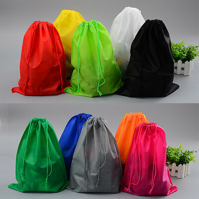 6 Colors Portable Toys Shoes Storage Pouch Bag Travel Drawstring Dust Bags