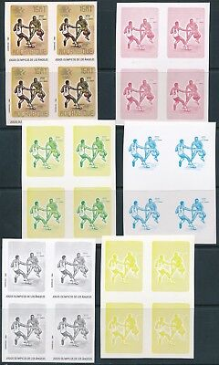 [E09072] Mozambique1984 Sport good stamps proof color bloc 4  VF MNH imperf