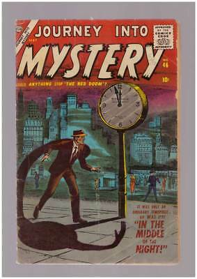 Journey into Mystery # 46 The Red Doom !  grade 3.5 scarce Atlas book !