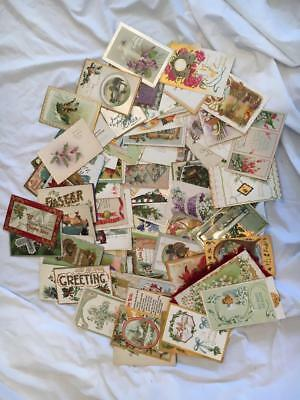Lot of 90 Vintage Holiday Postcards, Christmas Greetings 1900's and up