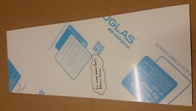 6mm Clear Cast Acrylic Panel / Sheet 800mm x 300mm Like Perspex