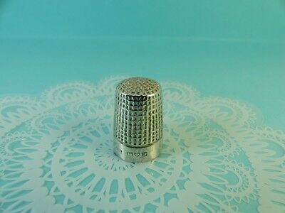 Antique Sterling Silver Charles Horner Thimble Sewing Chester 1920