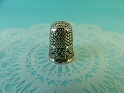 Antique Sterling Silver Charles Horner Thimble Sewing Chester 1900