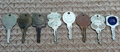 Old Vtg Original Mixed Sheraton Hotel Motel Room Large Brass Key Lot Collection