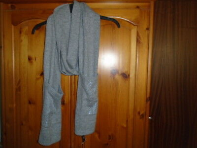 Ladies grey cashmere blend scarf with pockets, NEXT, NEW with TAG BNWT, Gift