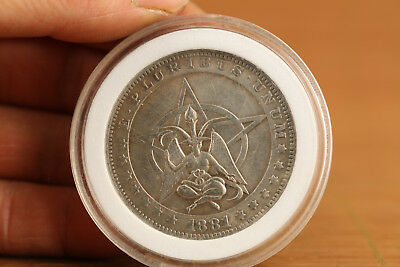 rare old tibet silver copper Ancient Valuable Coin eagle flower art gift