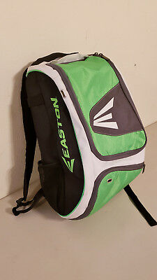 EASTON Softball Baseball Bat Bag Backpack, Black White & Neon Green - PreOwned