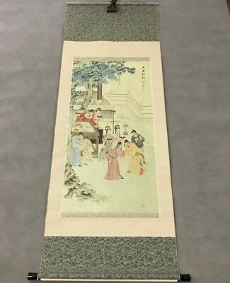 Finly Painted Chinese Imperial Landscape Emperor Silk Scroll Painting Seal Marks
