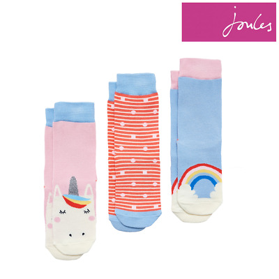 Joules Girls Brilliant Bamboo Socks (3 Pack)