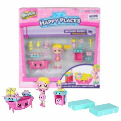 New Shopkins Happy Places Bathing Bunny Welcome Pack Playset Official