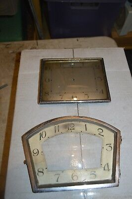 Box 2 Assorted clock dial bezels with clock glass