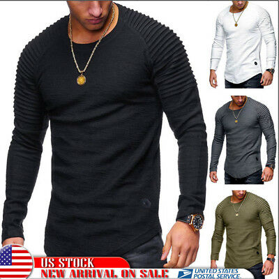 US Thermal Men Slim Fit O Neck Long Sleeve Muscle Tee T-shirt Casual Tops Blouse
