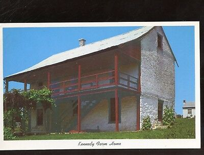 Greeting Postcard West Virginia Kennedy Farm House John Brown HArpers Ferry E91