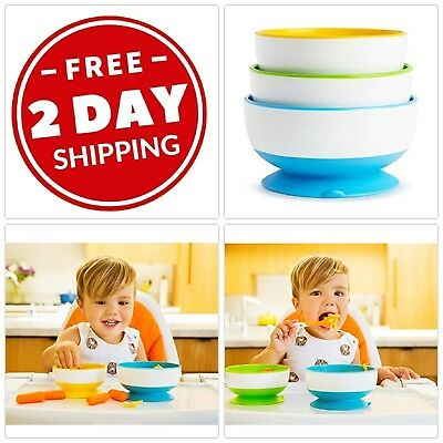 Baby Suction Bowl Set Of 3 Multi Size Toddler Feeding Bowls Meal Food Storage