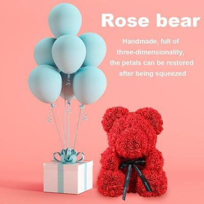 Large Teddy Bear Rose Bear 38CM Romantic Red Pink White Valentine's Day Gift UK