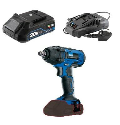 "Draper 20V Cordless 1/2"" Impact Wrench Ratchet & 2Ah Battery + Charger 89518"