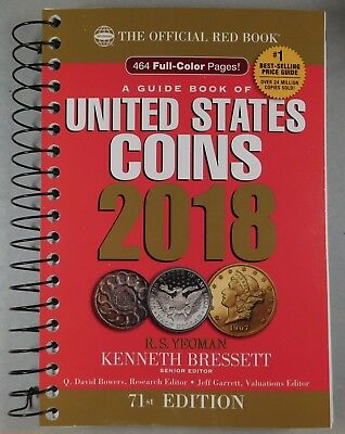 2018 RED BOOK - PRICE GUIDE TO U.S. COINS - The newest Red Book - 72th Edition