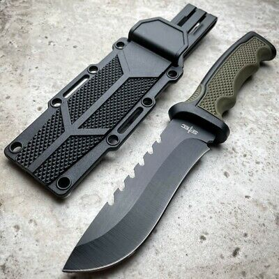 Hand Forged Railroad Spike Hunting Knife Fixed Blade Carbon Steel Sword Machete