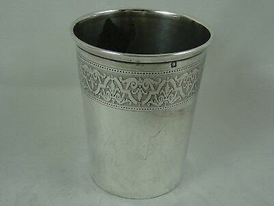 FRENCH solid silver BEAKER, c1890, 52gm