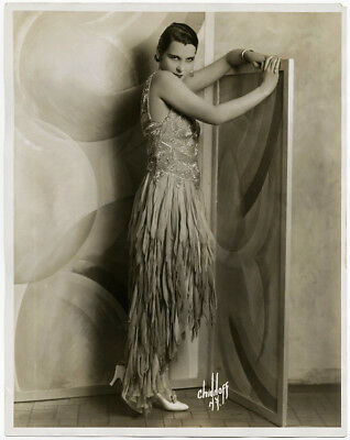 Irving Chidnoff 1929 Large Format Vintage Glamorous Art Deco Showgirl Photograph