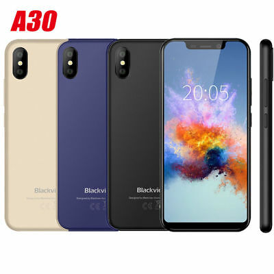 Blackview A30 5.5'' Quad Core Android 8.1 3G Phone Face ID 2G+16GB Smart Phone
