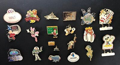 DISNEY TRADING PINS LOT OF 20, Some Cast Member Pins, Pins From 2001 & 2002
