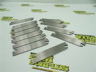 New 12Pc Lot Of Indexable Cut Off Parting Blades Read Description