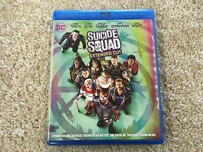 Suicide Squad Extended Cut Blu Ray/DVD With Digital Copy
