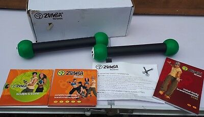 Zumba Fitness Kit with 4 DVDs toner sticks and Zumba Fitness guide