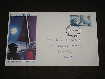 1967 GB Stamps SIR FRANCIS CHICHESTER First Day Cover EXETER Cancel FDC SAILING