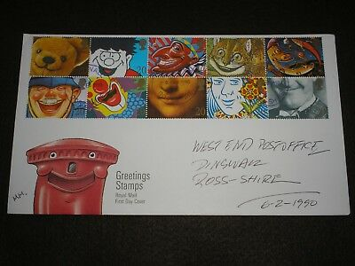 1990 GB Stamps GREETINGS Se-Tenant First Day Cover DINGWALL CDS Cancels FDC