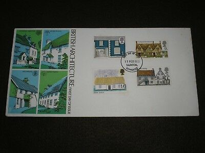 1970 GB Stamps RURAL ARCHITECTURE Trident First Day Cover TAUNTON FDI Cancel FDC