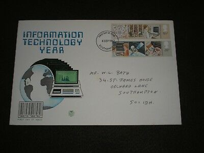 1982 GB Stamps INFORMATION TECHNOLOGY First Day Cover SOUTHAMPTON FDI Cancel