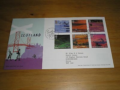 2003 GB Stamps SCOTLAND First Day Cover BALTASOUND - SCOTLAND THE BRAVE Cancels