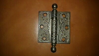 "Ornate Cast Iron 3"" x  3"" Door Hinge Excellent Condition!!"